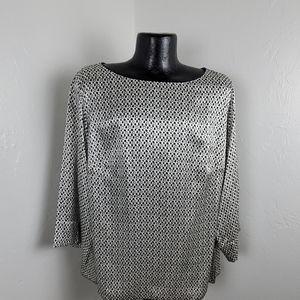 Lafayette 148 New York silk top blouse size 2X